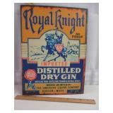 Royal Knight Dry Gin Sign