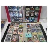 Baseball cards 2 3 ring binders; multiple players