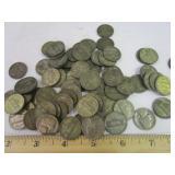 74 World War II Jefferson Nickels w/ mint marks