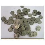 89 Buffalo Nickels; no date