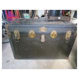Antique trunck made in Peterburg Va Great shape