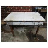 2 enamel top tables; pick up only