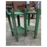 2 wooden plat stands; pick up only