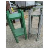 2 wooden plant stands; pick up only