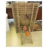 Chicken coop w/ decor; check the Rooster out/ pick