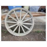 Large concrete wagon wheels