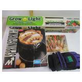 Grow light, Cake pan , Ski Gloves