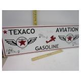 Texaco Aviation Gasoline Sign