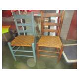 2 Primitive Farm Chairs