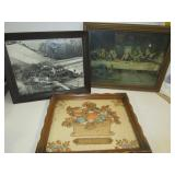 Antique group of 3 pictures