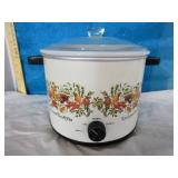 Vintage Crock Pot with milk glass pot removable