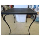 Nice wrought iron table 18 x 18; pick up