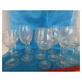 Stem ware glasses; pick up