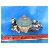 Cute monkey bowl with lid