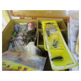 Fishing items; Plano box with hooks
