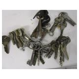 Lot of skeleton & old keys