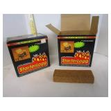 Vintage StarterLogg wood fire starter; 1 full box