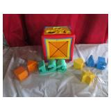 Retro Toddler Shaper toy with shapes, letters,