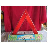 Vintage emergency electric portable triangle