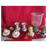 Glass selection & more  candle holders, vases, &