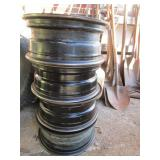 Lot of tire rims; pick up only