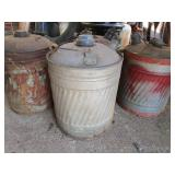 Lot of old metal gas cans; pick up only
