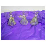 2 count Christmas glass angels