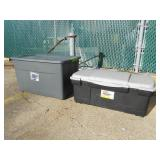 3 count BIG storage containers with lids