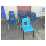7 count heavy duty stackable student chairs
