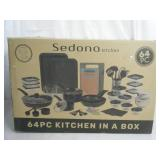 New open box 62 count Sedona kitchen set