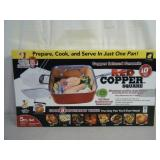 Brand new 5-pc Red Copper Square pan set