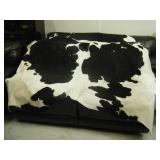 Excellent authentic full adult size cow hide rug