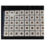 40 USA Wheat Cents 1910 - 1948