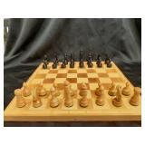 Wood Chess Board + Wood Chess pieces set