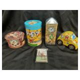 Collector tins and mountie cards