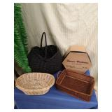 Hat box and basket lot