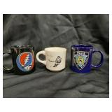 3 Coffee Mugs NYPD + Greatful Dead + San Diego
