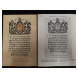 WW 1 Memorial Scroll with print wording error