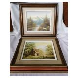 2 beautifully framed pictures.