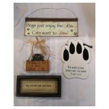 Dog and cat sign lot