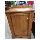 Vintage pine cupboard with door