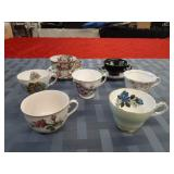 2 tea cups and saucers + 5 tea cups only