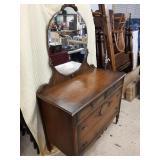 Ladies Vanity 4 Drawer Dresser with Mirror