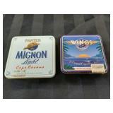 2 Cigar / Cigarette Tins