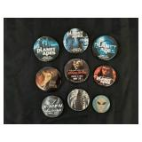 9 Action Movie Buttons / Pins