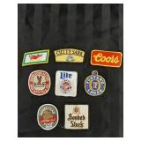 8 Retro Beer Patches