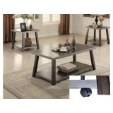3 Pc. Coffee Table Set Metal Frame new in box