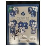 Toronto Maple Leafs signed plaque