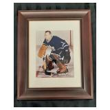 Johnny Bower #1 Signed Photo in frame w/c.o.a.