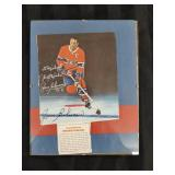 Jean Beliveau Autographed picture in frame